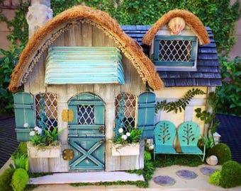 Enchanted Beach Cottage, Custom Dollhouse, Fairy dollhouse