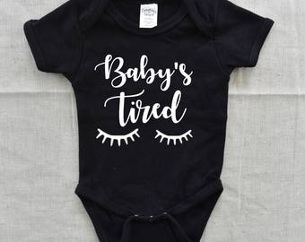 Baby Girl Clothes, Baby Girl Onesie, Baby's Tired, Sassy Girl Onesie, Girl Onesies, Mini Mama Onesie, Baby Pajamas