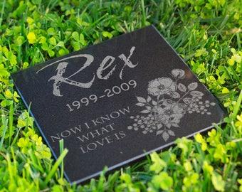 Dog Memorial Stone Personalized Grave Stone Laser Engraved Pet Memorial Garden Plaque Custom Engraved Cat Memorial Dog Grave Markers #SGP3