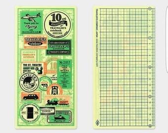 Travelers Notebook 2017 Plastic Sheet Regular Size