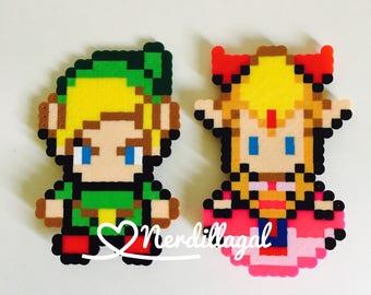 The Legend of Zelda Magnets- Zelda and Link-Geeky home decor- Nerdy home decor