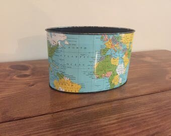 Vintage World Map Tin
