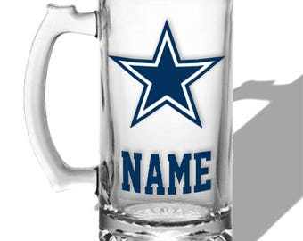 Personalized beer mug Dallas Cowboys, Gift