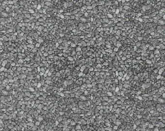 RJR Fabrics; 'Grey Pebbles' Fabric by the Yard, Danscapes by Dan Morris, 1416-2