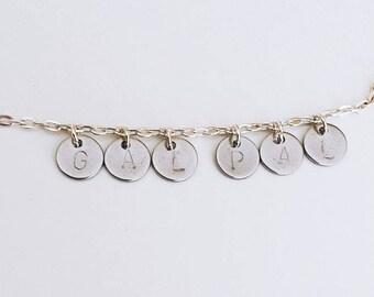 GAL PAL handstamped bracelet
