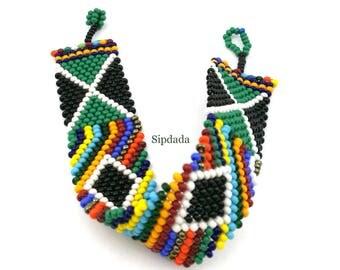 African bracelet, beaded bracelet, colorful bracelet