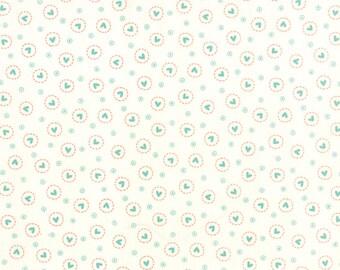 Moda SWEETNESS Quilt Fabric 1/2 Yard By Sandy Gervais - Snow/Sky 17854 12