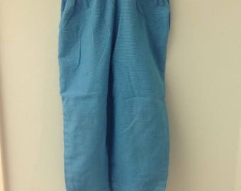 3T Turquoise Checked Pants with a Ruffled Cuff