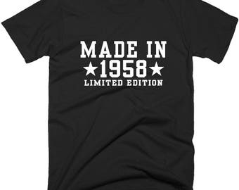 60th Birthday Gift, Made In 1958 All Original Parts T-Shirt, 60th Birthday T-Shirt, Birthday Tee Shirt.