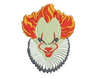 Pennywise The Dancing Clown - Bob Gray - It: Machine embroidery design