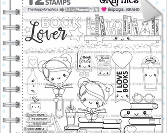 Back To School Stamp 80OFF COMMERCIAL USE Digi Book