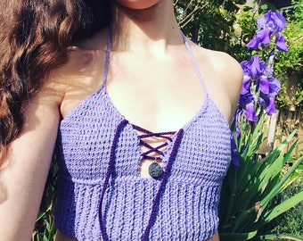 Lavender druzy dreams bralette