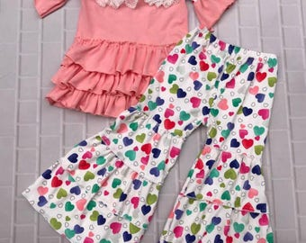 Little Girls Valentines Outfit