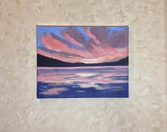 Sunset, original 11x14 acrylic painting