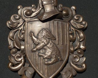 Hufflepuff Crest for Wall hanging or desk, reproduction, Harry Potter