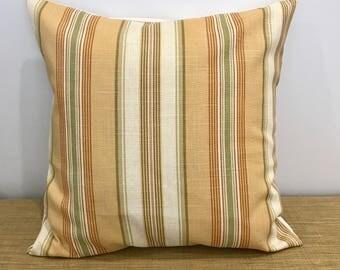 "Striped Linen Fabric Decorator Cushion Cover. Decorative Throw Pillow. 18"" (45cm) . Cushion Covers Australia"