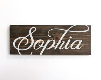 Nursery Sign Name, Personalized Wood Signs for Baby, Custom Name Sign Nursery Wood, Baby Girl Name Wall Decor, Name Sign For Nursery