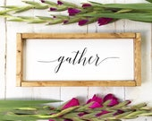 Gather | Wood Sign | Rust...