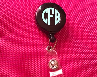 Nurse Badge Reel, Retractable Badge Holder, Personalized Badge Reels, Customized Badge Reel, Retractable Badge Holder, Monogram Badge Reel