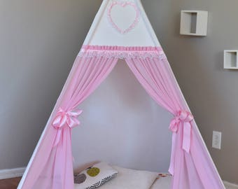 Hearty Outdoor Canvas Teepee Kids Teepee, Kids Play Tent, Childrens Play House, Tipi,Kids Room Decor