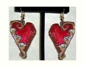 Hearts Be Jeweled - Brick Stitch Beading Pattern