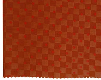 "Handcrafted Rust Orange Fabric, Polka Dots, Quilting Fabric, Dress Fabric, 44"" Inch Cotton Fabric By The Yard ZBC9069B"