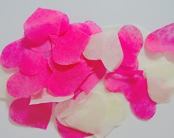 Pink ivory heart confetti Task No - 25 handles (handmade)