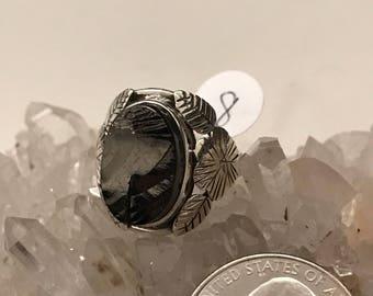 Elite Shungite Ring Size 8