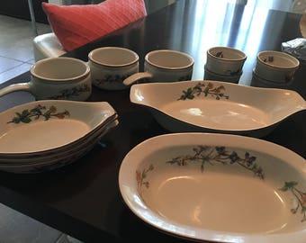 Vintage Woodhill dish set