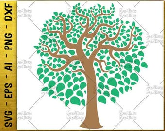 Family Tree svg Tree svg Wedding Tree svg Forest Tree print decal Cut cut Files Cricut Silhouette Instant Download vector SVG PNG EPS dxf