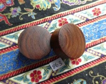 26mm Handmade Wooden Pau Santo 'Brazilian Blackheart' Ear Plugs Pair - Easy Care ( Overall size 27.3mm )