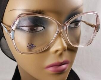 Vintage Eyeglass Frame, Safilo, Blue and Clear