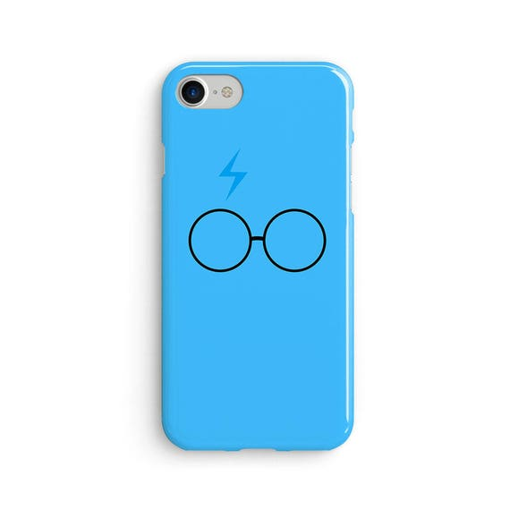 Harry P inspired blue scar and glasses  iPhone X case - iPhone 8 case - Samsung Galaxy S8 case - iPhone 7 case - Tough case 1P001