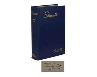 Etiquette ~ SIGNED by EMILY POST ~ 1937 Hardcover ~ New Edition