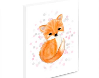 Fox nursery wall art, fox nursery decor, fox nursery art, nursery wall plaque, ready to hang, woodland nursery decor, baby's nursery art