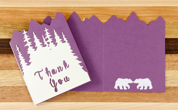 Winter Wedding Thank You Card Set