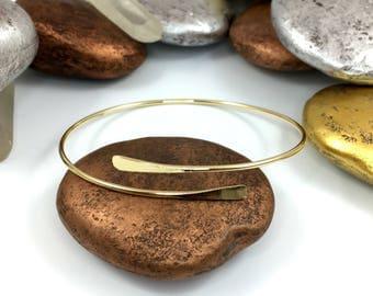 Gold Wrap Bracelet, Thin Gold Bracelet, Wrap Bracelet, Gold Cuff Bracelet, Thin Bracelet, Hammered Bracelet, Gold Bracelet