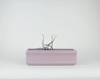 Vintage Violet - Lilac - Rectangle Planter with Hole - Succulent - Cactus - House Plant - Terrarium - Flower Pot