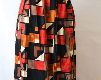 ClearanceSale45Off Vintage Ladies' Women's Skirt Large X-Large Skirt Print Skirt by Fashion Extra