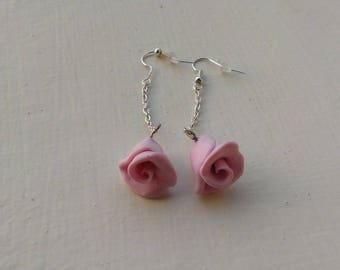 Earrings roses very girly and romantic