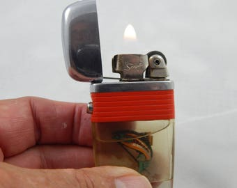 Vintage Scripto Vu Lighter Working