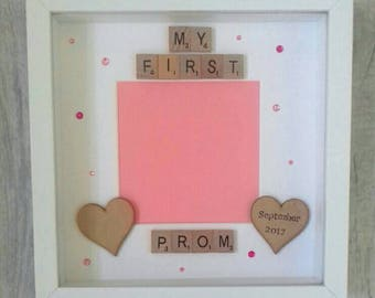 My First Prom Frame/My 1st Prom Photo Frame/Personalised Prom Frame/Girls Frame/Prom Gift/Personalised Prom Gift