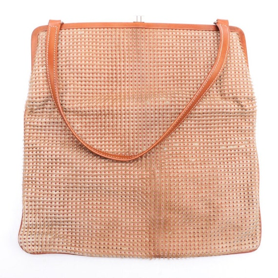 Vintage Lambertson Truex perforated ponyhair and leather handbag, late 1990s.