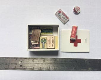 Dollshouse miniature first aid box