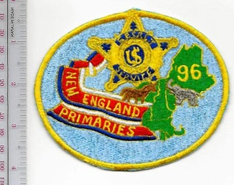 US Secret Service USSS 1996 Presidential Primaries New England Agent Service Patch ma ct vt nh me
