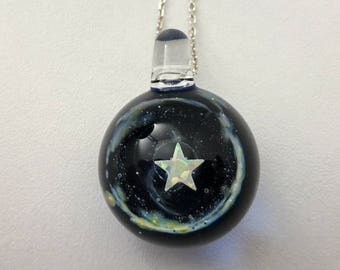 Space Glass star pendant, part of the series