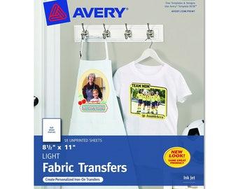 Inkjet etsy for Avery t shirt transfer paper for laser printers