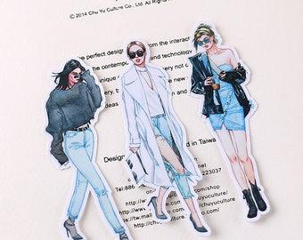 Street Fashion #3 Flake Stickers (20 pcs) // N45 // Die Cut Stickers // Planners //  Laptop Stickers  // Scrapbooking Essentials