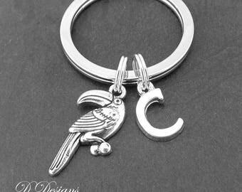 Toucan KeyRing, Tucan KeyChain, Bird KeyChain, Personalised Tucan Key chain, Tucan Gifts, Bird Keychain