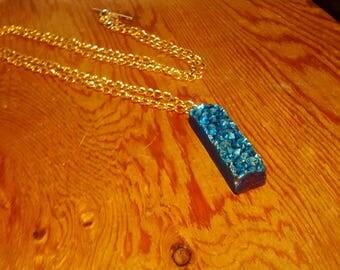 Stunning, raw quartz geode, galaxy,  gold,  bohemian statement necklace, raw geode necklace, raw druzy necklace, gold necklace, statement